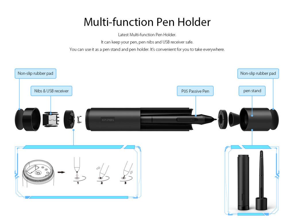 Multi-function pen holder