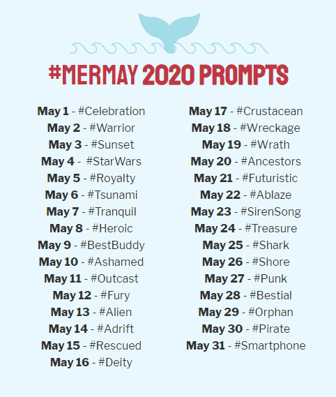MerMay 2020 prompt list