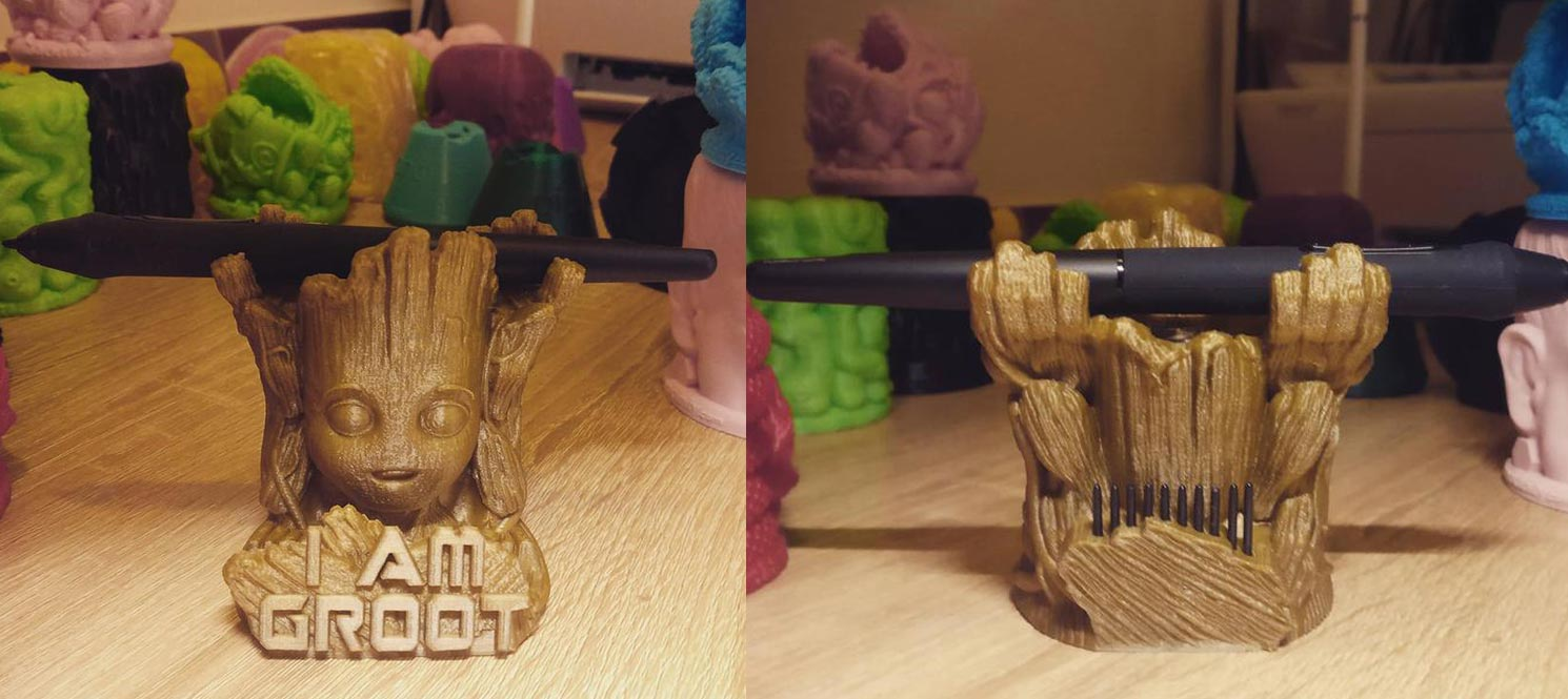 Groot pen stand with nibs