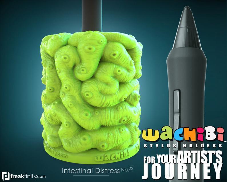 Intestinal distress Wachibi pen holder