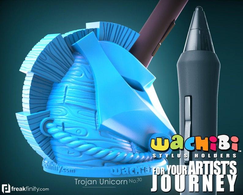 Trojan Unicorn Wachibi pen stand