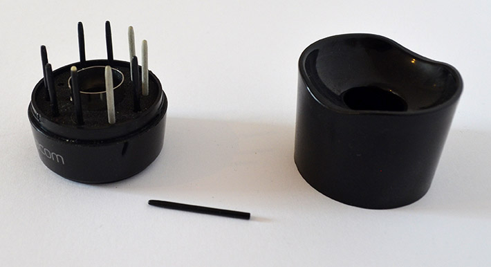 Wacom Pen Holder open with nibs