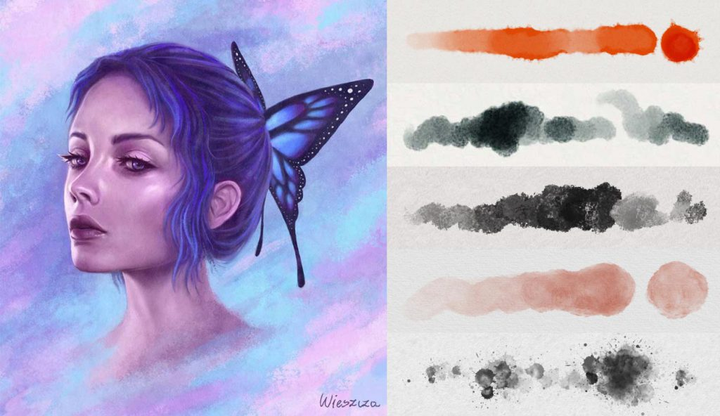 Watercolor Brushes for Procreate [Free and Premium]